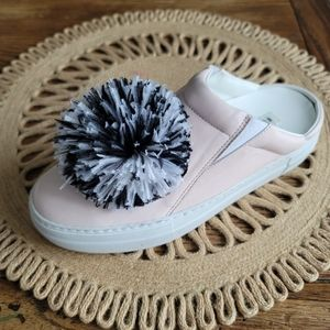 EUGENIA KIM Pom Pom Sneaker Slides Size:8